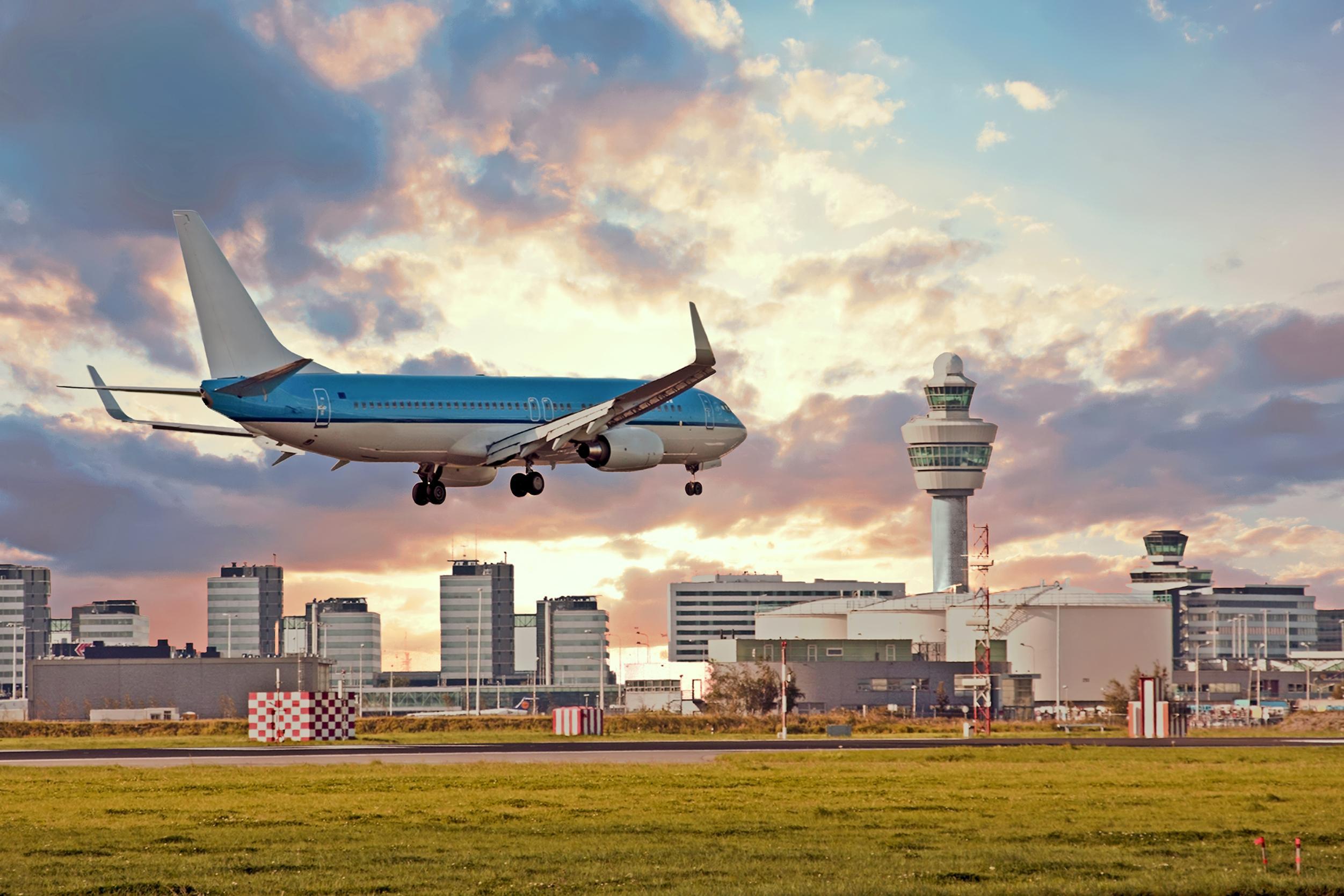 landing vliegtuig Schiphol